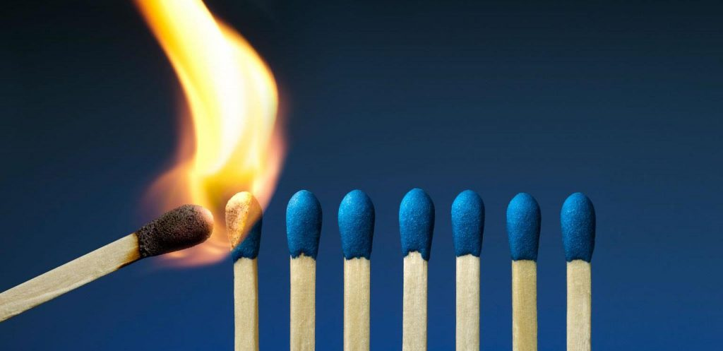 lighting a fire in others